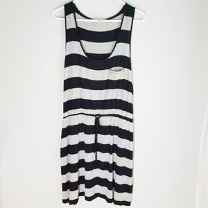 Olive and Oak Striped Dress Swimsuit Coverup